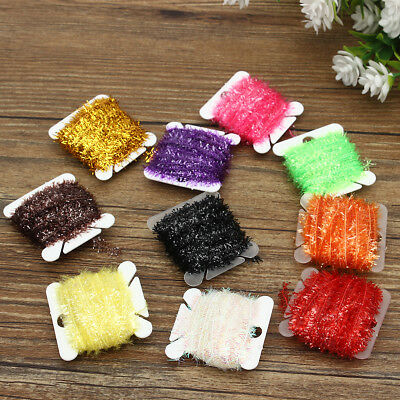 10 Color Ice Card Fly Tying Materials Tinsel Cactus Chenille Medium Crystal Body