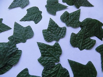 100 GREEN SILK ivy LEAVES LEAVES/CRAFTS/DECORATION/WEDDING/FLOWERS/christmas
