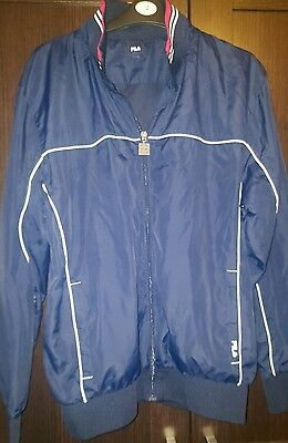Gorgeous Mens Navy Fila Casual Wear Tracksuit Top - Size Large