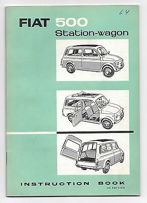 Fiat 500 Station-wagon 1964 Instruction Book 5th edition