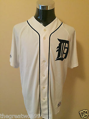 MLB Detroit Tigers #28 XL Embroidered Baseball Jersey by Majestic