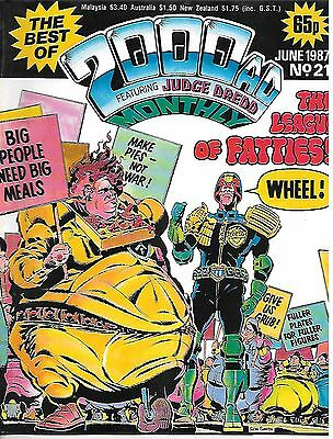"Best of 2000 AD Monthly #21 (1987) Slaine ""Sky Chariots"" + Dredd ""Fatties"""""