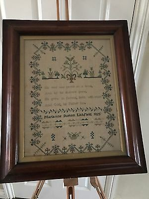 Beautiful Framed Antique Sampler dated 1825