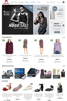 Amazon, eBay, Aliexpress & Evento market Affiliate Website For Sale - ALL-IN-ONE