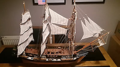 """Model Galleon """" Constitution"""" Wooden Hand Crafted beautiful large scale"""