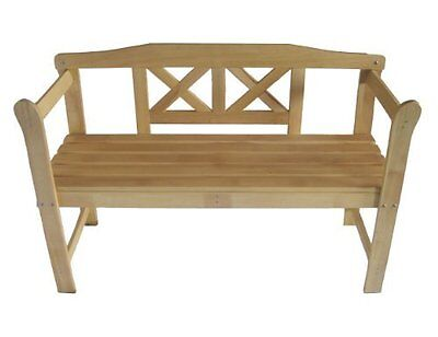 Wooden Garden Bench Furniture Patio 2 Seat Benches Solid Outdoor Home Seater New