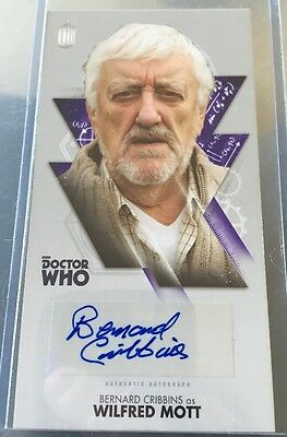 DOCTOR WHO Autograph Card  THE TENTH DOCTOR ADVENTURES - BERNARD CRIBBINS