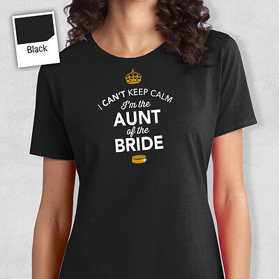 Aunt Of The Bride To Be T Shirt Bridal Gift Present Hen Do Wedding Party