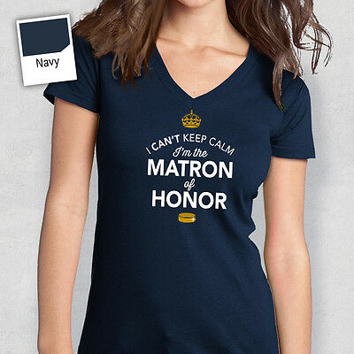 Matron Of Honor T Shirt Bridal Gift Present Hen Do Wedding Party