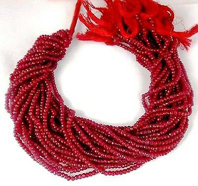 5 Strand Aventurine Ruby Gemstone Faceted Rondelle Beads Bead 3.5-4mm 13.5 inch
