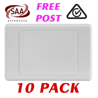 10 x Blank Wall Plate - Electrical Wallplate Empty Switch plate - SAA
