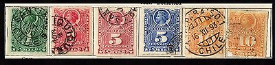 Stamps ~ CHILE South America ~ From 1881 ROULETTED Unchecked #1