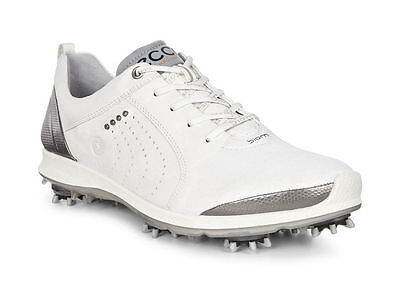ECCO 2017 Womens G2 White Buffed Silver Waterproof Leather Golf Shoes