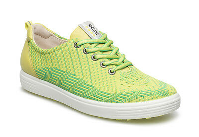 ECCO Womens Lime Punch Casual Hybrid Knite Leather Golf Shoes