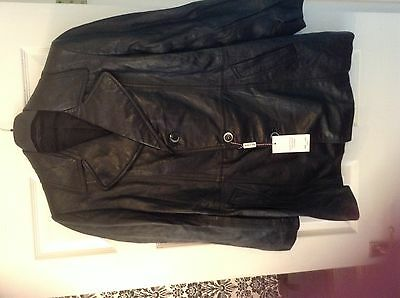 Leather vintage jacket. 48