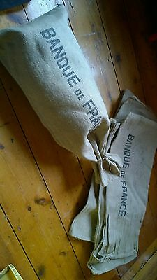 french bank bag original 50s/ sac banque de france original