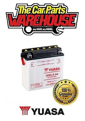 12N5.5-4A Genuine Yuasa Motorcycle ATV Quad Buggy Battery X Without Acid Pack X