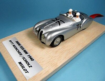 Msslot Rtr Bmw 328 Roadster Mille Miglia 1940 1/32 Resin Classic Slot Car