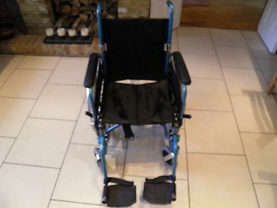 Folding, Self Propelled Lightweight Angel Mobility Wheelchair, up to 20 stone