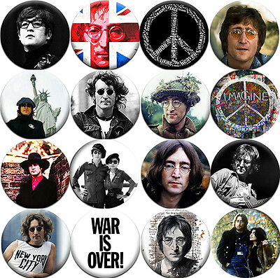 John Lennon - Badges Buttons Pins (1.5 inch - 38 mm) - 16 pieces