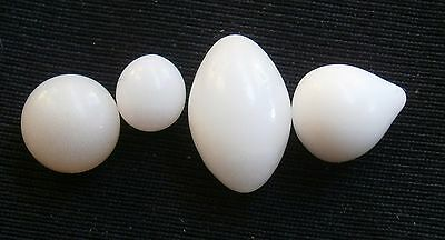 Spondylus varians  wild pearl    4.6mm-9.4 mm with flame ,set of 4pcs. pearls