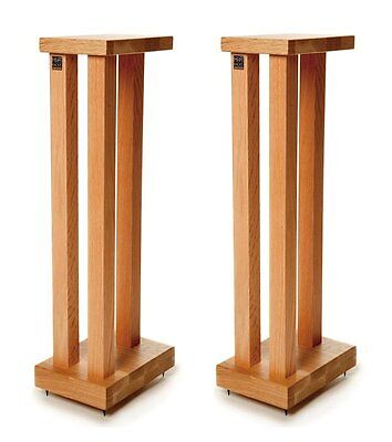 Hi Fi Racks Podium Slimline Speaker Stands 600mm Oak (Pair)