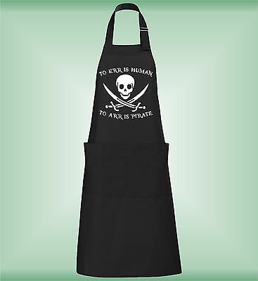 To Err Is Human To Aar Is Pirate Gracioso Delantal De Cocina Funny Kitchen Apron