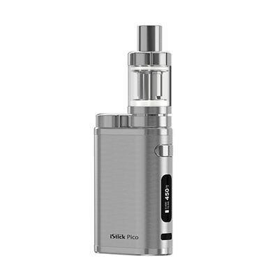 Eleaf iStick Pico 75W Melo3 Mini Atomizer Clearomizer Komplettset Brushed Silber