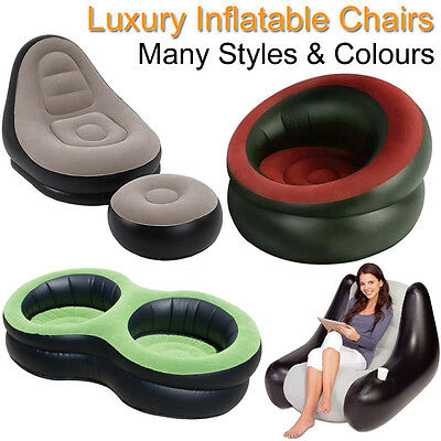 Kids Inflatable Chairs Sofas Blow Up Seat Gaming Lounger Armchair Childrens Boys