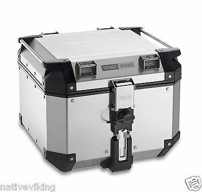 Givi TREKKER OUTBACK top box 42 L topbox TOP BOX CASE UK STOCK aluminium OBK42A