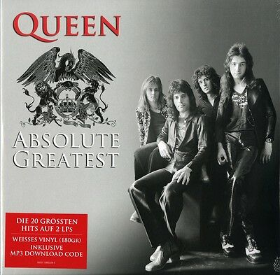 Queen : 2Lp - Absolute Greatest - White Vinyl - Germany 2015 - New/sealed