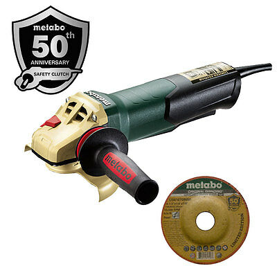 "Anniversary Edition 4.5"" 8A Angle Grinder w/ Paddle O-B Metabo WP9-115QUICK-50"
