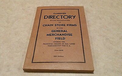 Classified Directory buying headquarters chain store firms 1932 edition