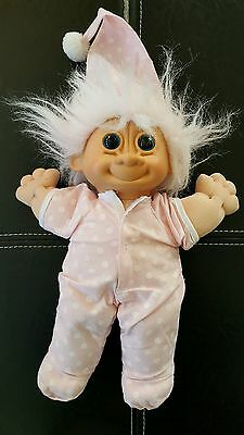 Large Troll Doll~ 12 in ~Pink Hair Girl CUTE LOOK!