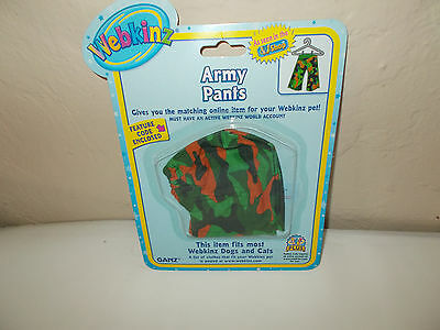 NEW GANZ Webkinz Pet Army Camo Pants Clothes Clothing Outfit W/ Code