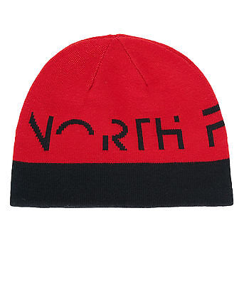 The North Face Kinder Anders Beanie Mütze Schwarz-Rot T0A6X3KX9