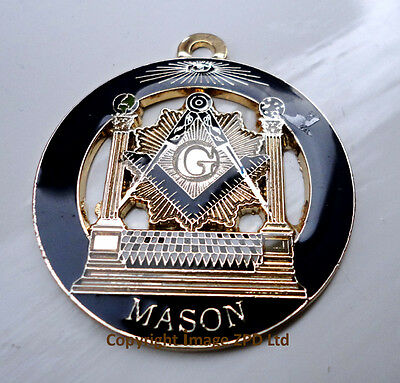 ZP334 MasonFreemason Altar Square Compass Vintage Style Pendant All Seeing Eye