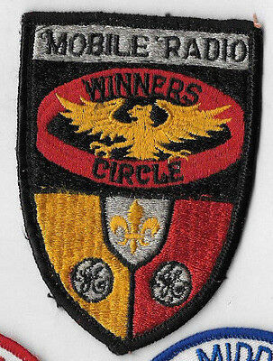 Vintage GE General Electric MOBILE RADIO WINNERS CIRCLE PATCH Embroidered