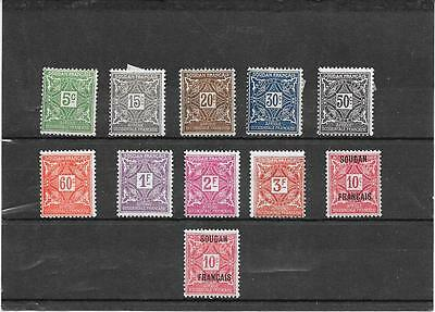 french Sudan postage dues MM