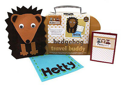 New Makemee Woodland Friends Make Your Own Hedgehog Travel Buddy Kids Craft