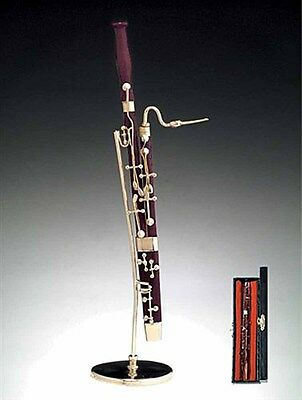 """Miniature Musical Instrument -Bassoon Miniature with Stand & Case (CWBS) 6.75"""""""