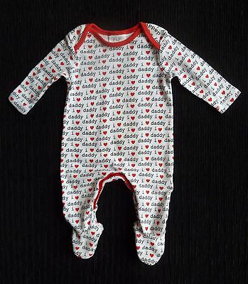 Baby clothes UNISEX BOY GIRL newborn 0-1m I love Daddy red,black,white babygrow