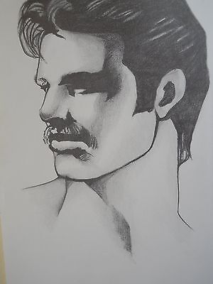 """MALE PORTRAIT DRAWING..."""" AL PARKER """"...gay interest....9 X 12 INCHES"""