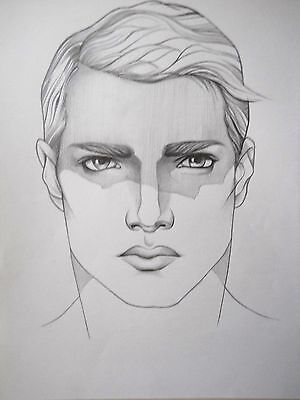 """MALE PORTRAIT DRAWING...""""SHADED EYES """"......11 X 14 INCHES...gay interest"""