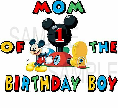 MICKEY MOUSE PERSONALIZED BIRTHDAY SHIRT MOM OF BIRTHDAY BOY,DAD,BROTHER 150