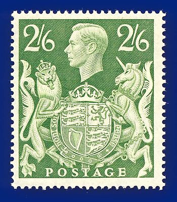 1942 SG476b 2s6d Yellow-Green Mounted Mint, Hinged, Cat (MNH) £15