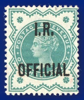 """1901 SG O17 ½d Blue-Green - Optd Type 1 """"I.R. Official"""" MNH Cat (MLH) £20"""
