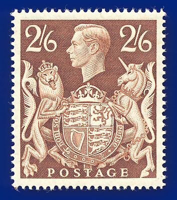 1939 SG476 2s6d Brown Mounted Mint, hinged, Cat (MNH) £95