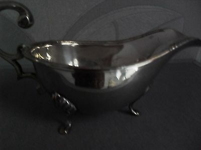 Silver Plate  Gravy Or Sauce Bowl With Feet
