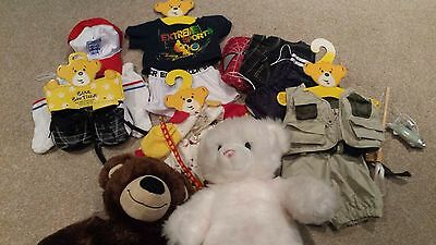 2 Build a Bear bears And Accessories